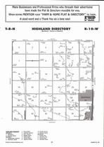 Highland Township, Hastings, Directory Map, Adams County 2007